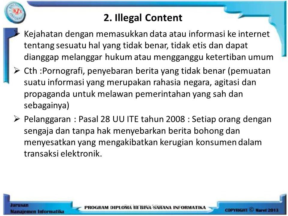2. Illegal Content