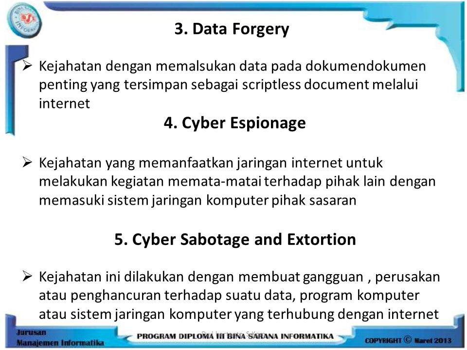 5. Cyber Sabotage and Extortion