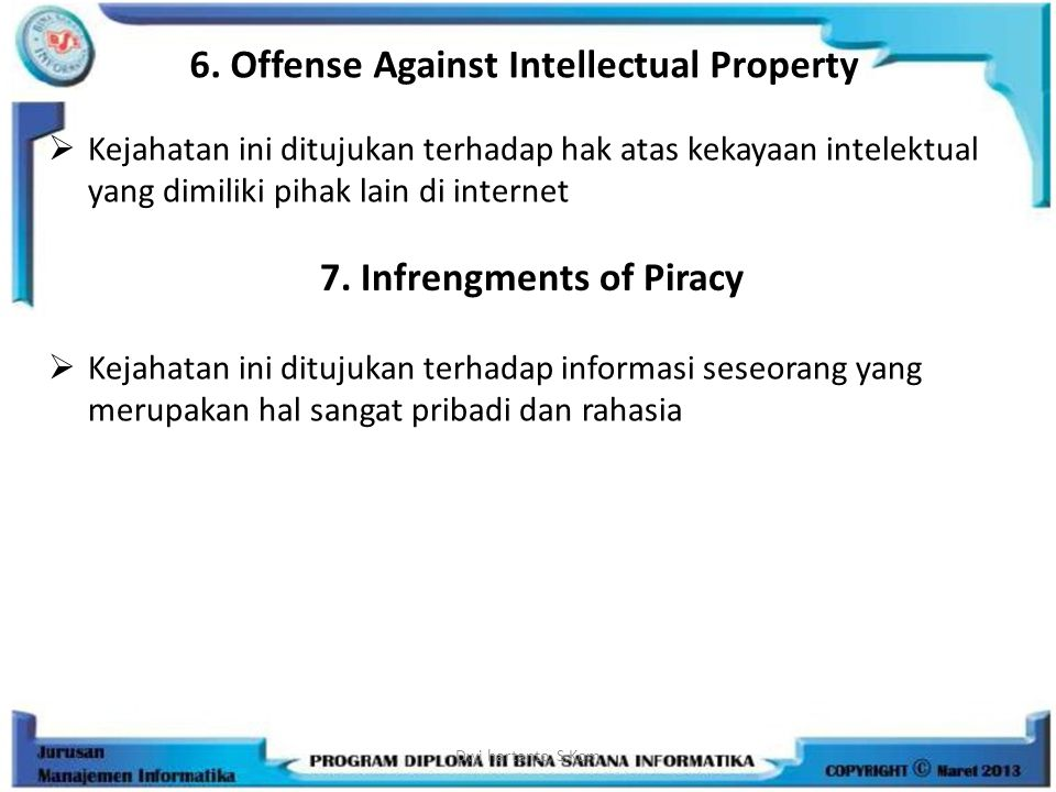 6. Offense Against Intellectual Property