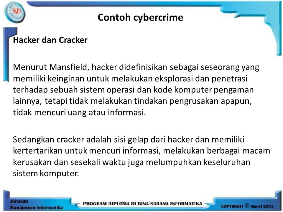 Contoh cybercrime
