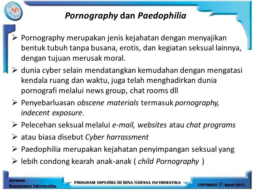 Pornography dan Paedophilia