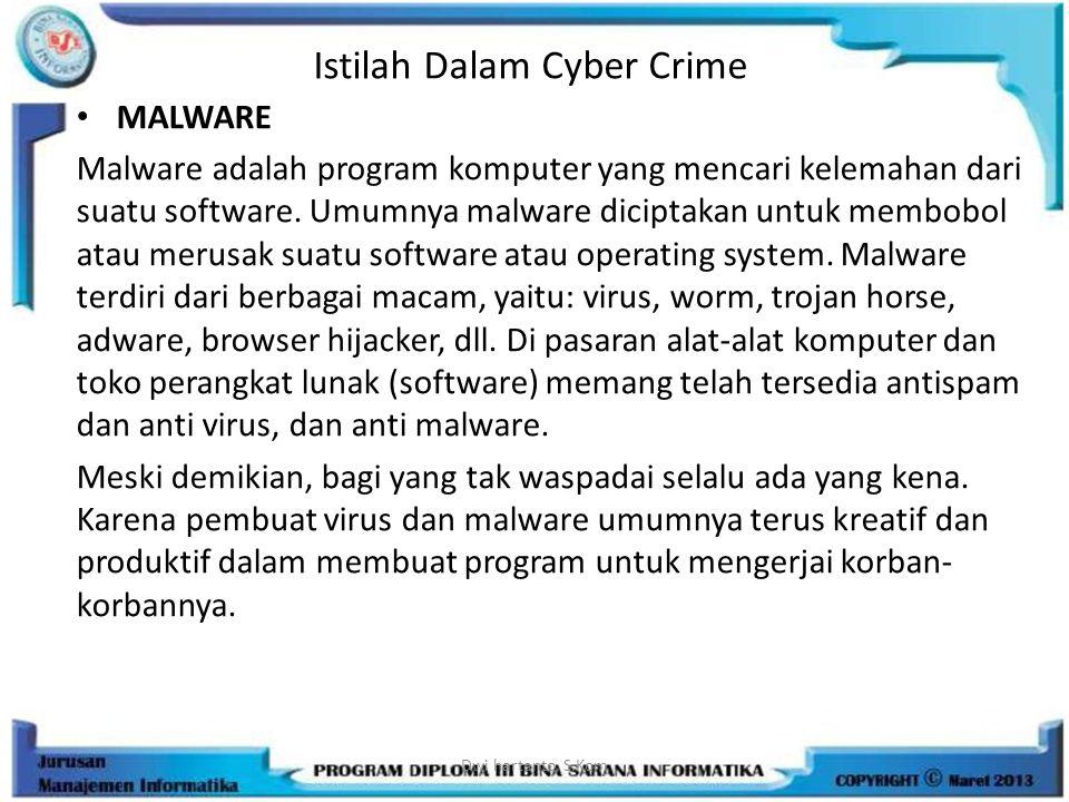 Istilah Dalam Cyber Crime