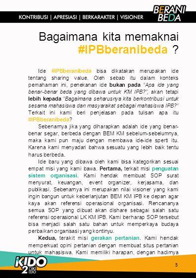 Bagaimana kita memaknai #IPBberanibeda