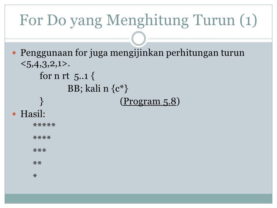 For Do yang Menghitung Turun (1)