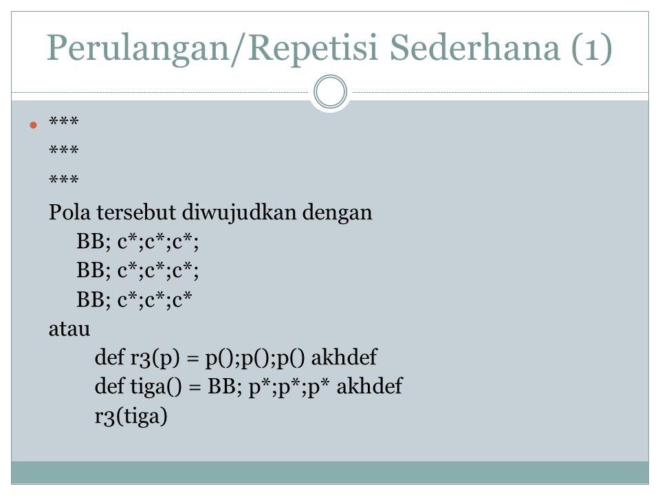 Perulangan/Repetisi Sederhana (1)
