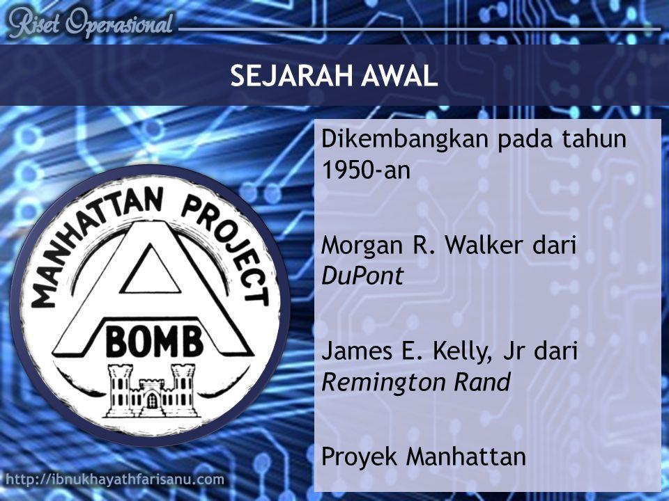 SEJARAH AWAL Dikembangkan pada tahun 1950-an Morgan R.