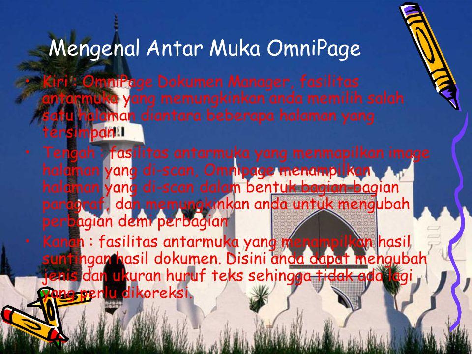 Mengenal Antar Muka OmniPage