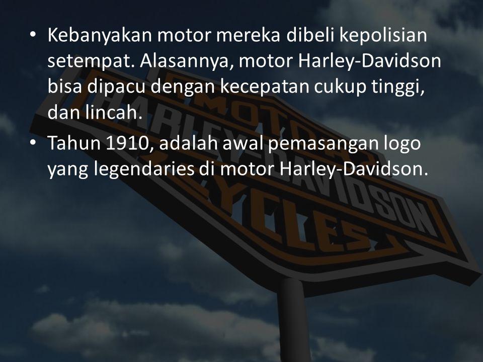 Kebanyakan motor mereka dibeli kepolisian setempat