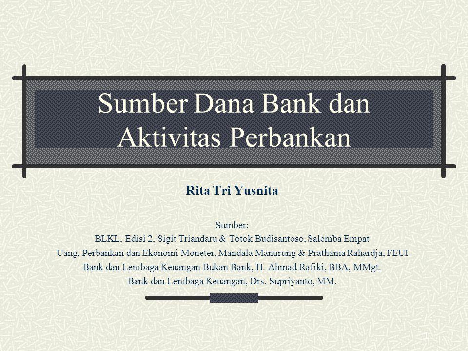 Sumber Dana Bank dan Aktivitas Perbankan