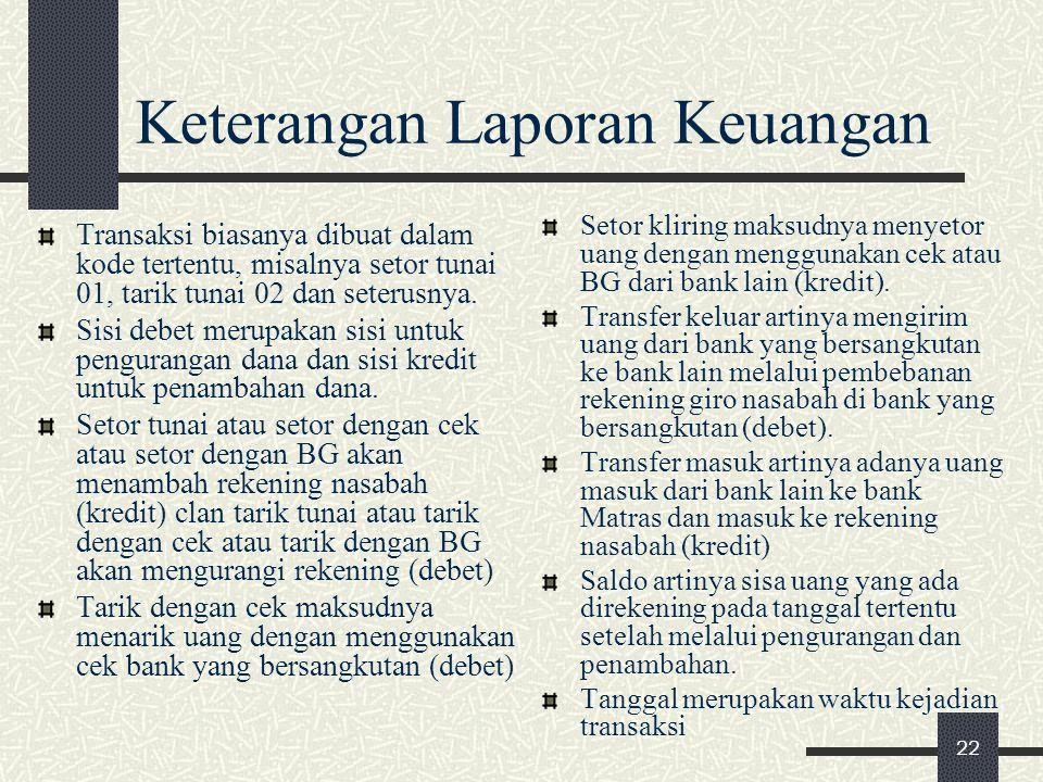 Keterangan Laporan Keuangan