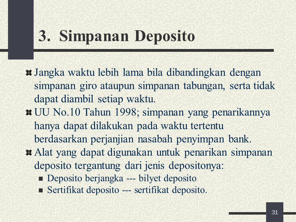 3. Simpanan Deposito