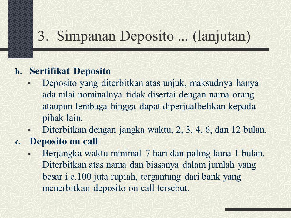 3. Simpanan Deposito ... (lanjutan)