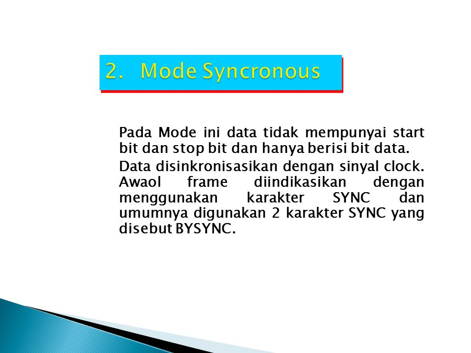 Mode Syncronous