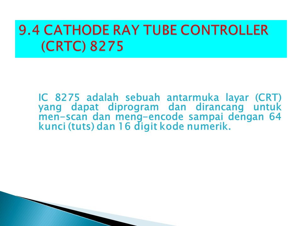9.4 CATHODE RAY TUBE CONTROLLER (CRTC) 8275