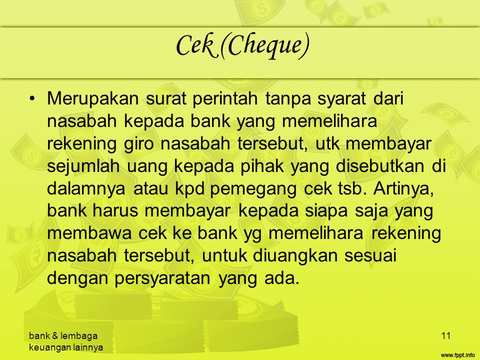 Cek (Cheque)