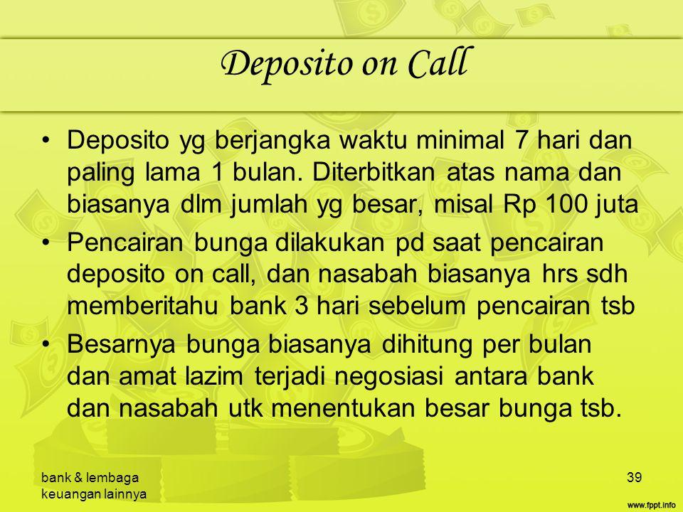 Deposito on Call