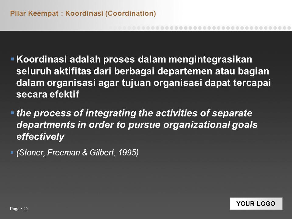 Pilar Keempat : Koordinasi (Coordination)