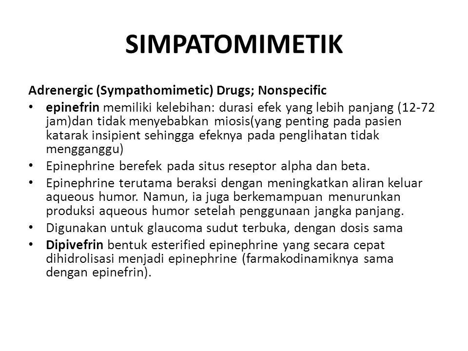 SIMPATOMIMETIK Adrenergic (Sympathomimetic) Drugs; Nonspecific