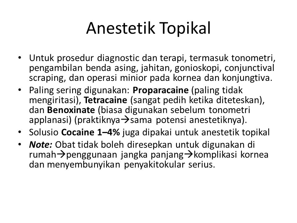 Anestetik Topikal
