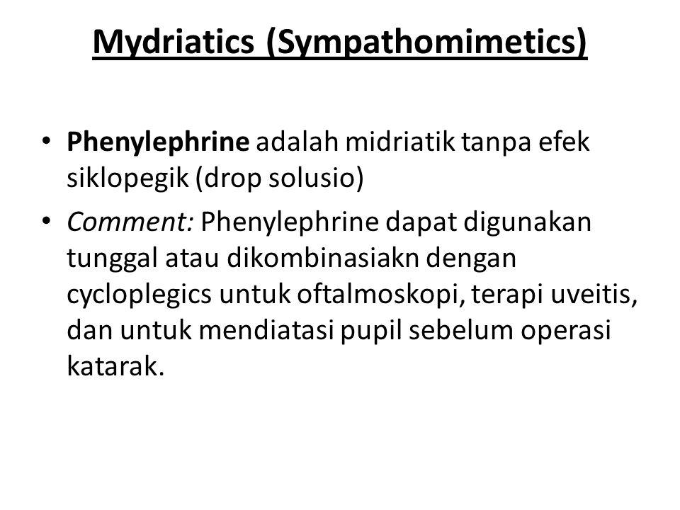 Mydriatics (Sympathomimetics)