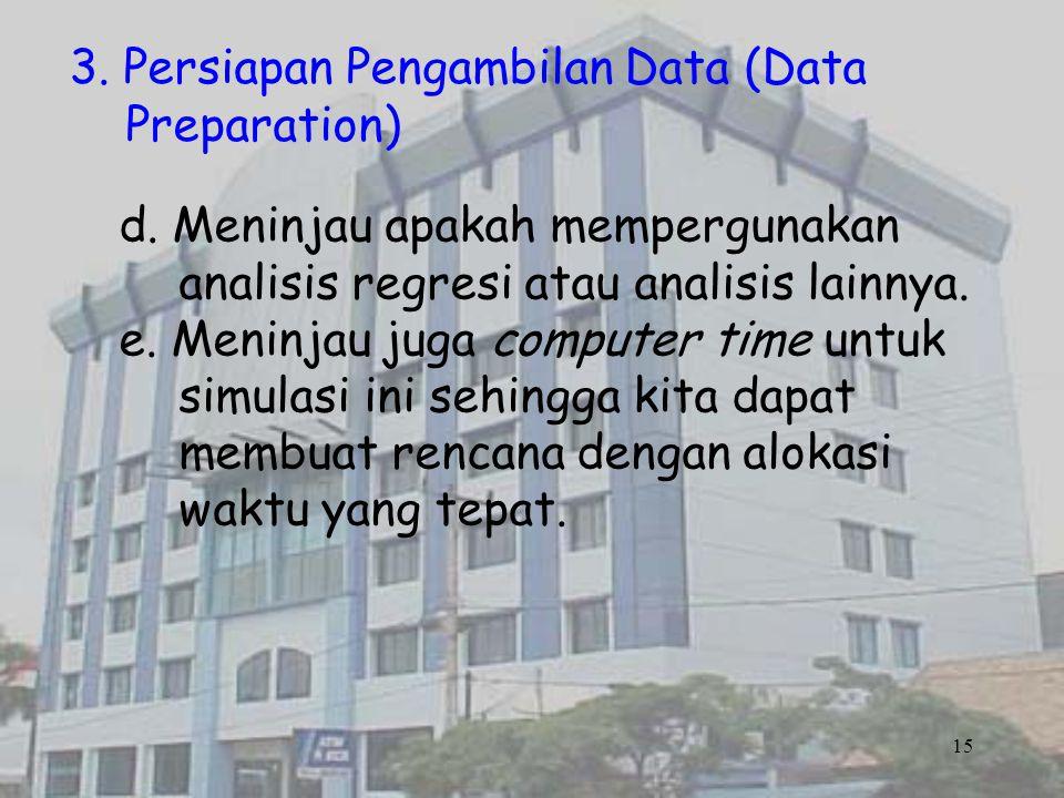 3. Persiapan Pengambilan Data (Data