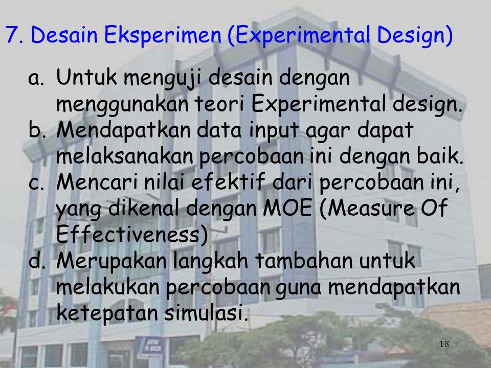 7. Desain Eksperimen (Experimental Design)