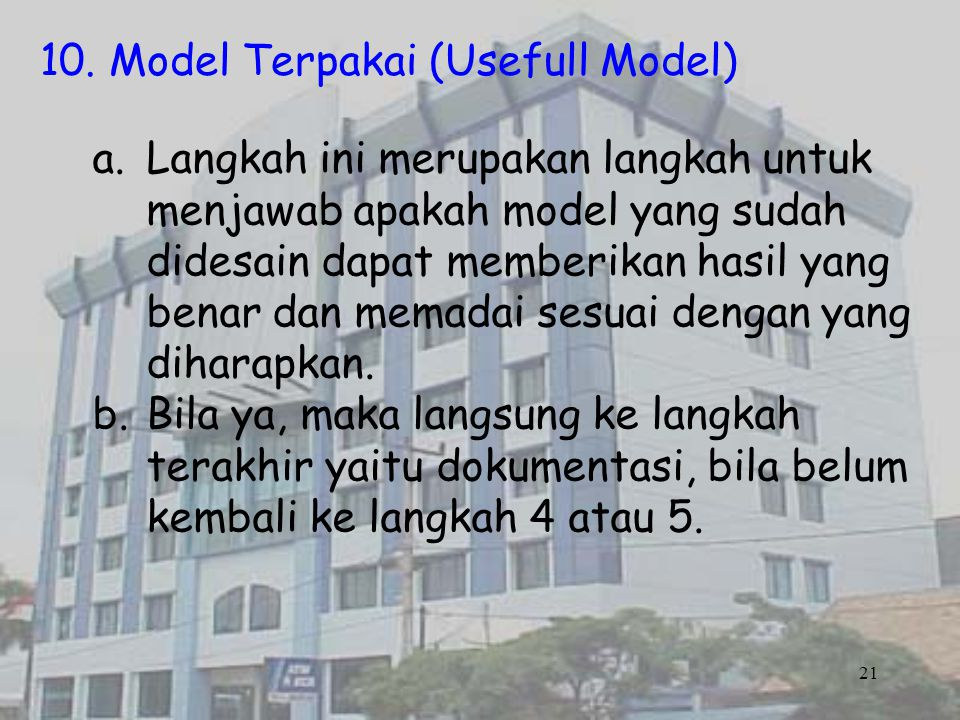 10. Model Terpakai (Usefull Model)