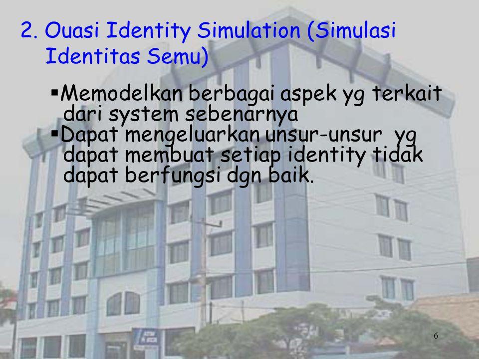 2. Ouasi Identity Simulation (Simulasi