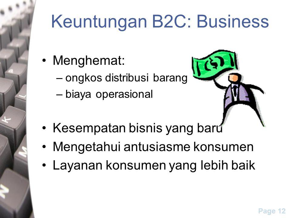Keuntungan B2C: Business