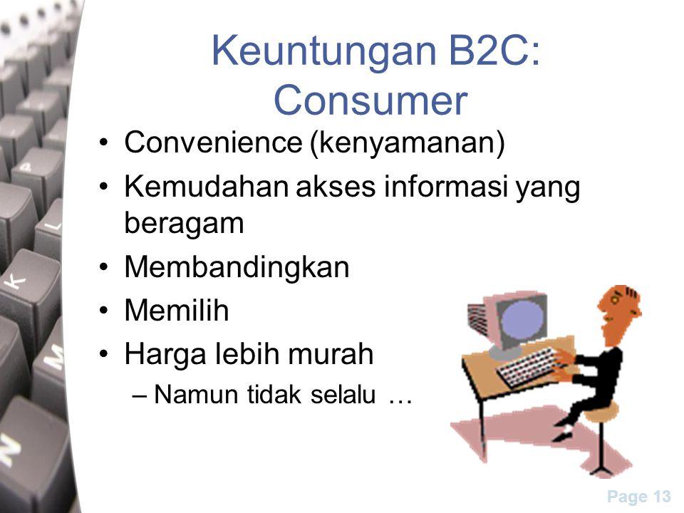 Keuntungan B2C: Consumer