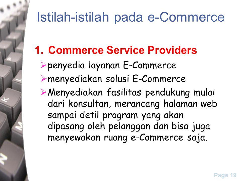 Istilah-istilah pada e-Commerce