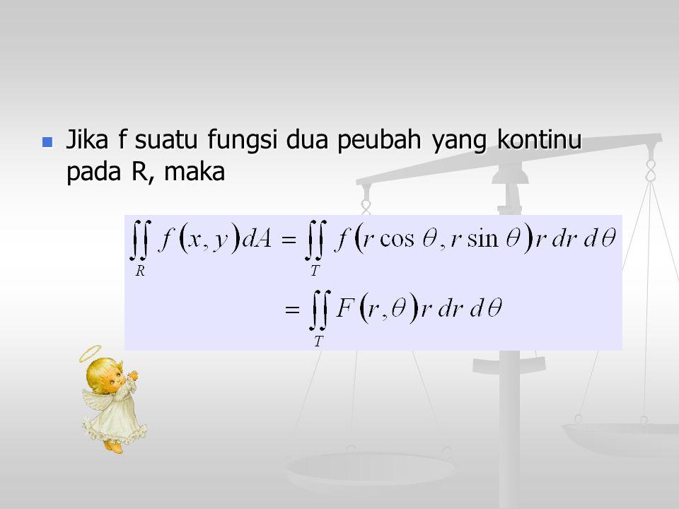 Jika f suatu fungsi dua peubah yang kontinu pada R, maka