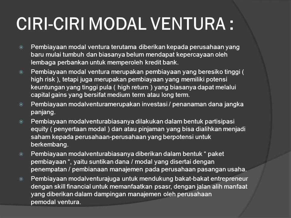 CIRI-CIRI MODAL VENTURA :