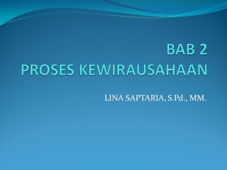 BAB 2 PROSES KEWIRAUSAHAAN