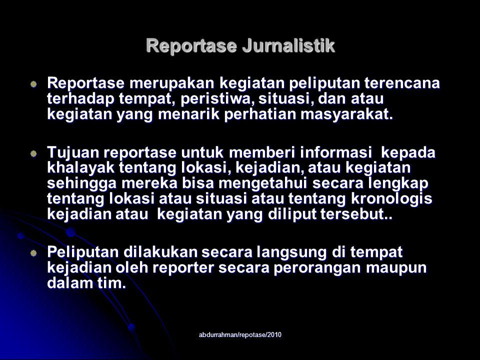 Reportase Jurnalistik
