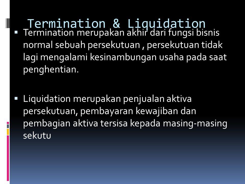 Termination & Liquidation