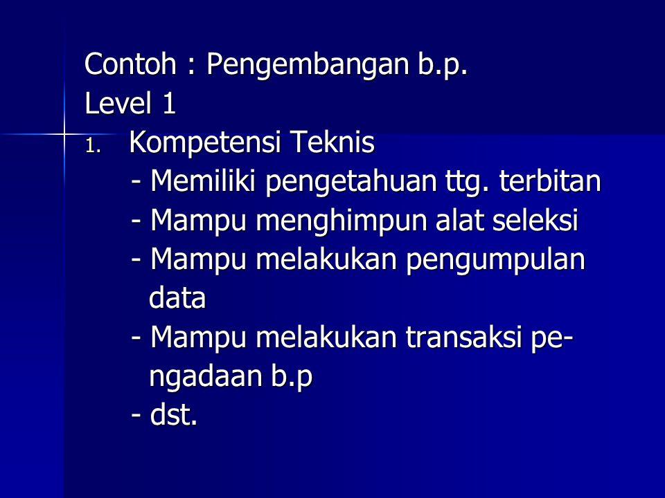 Contoh : Pengembangan b.p.