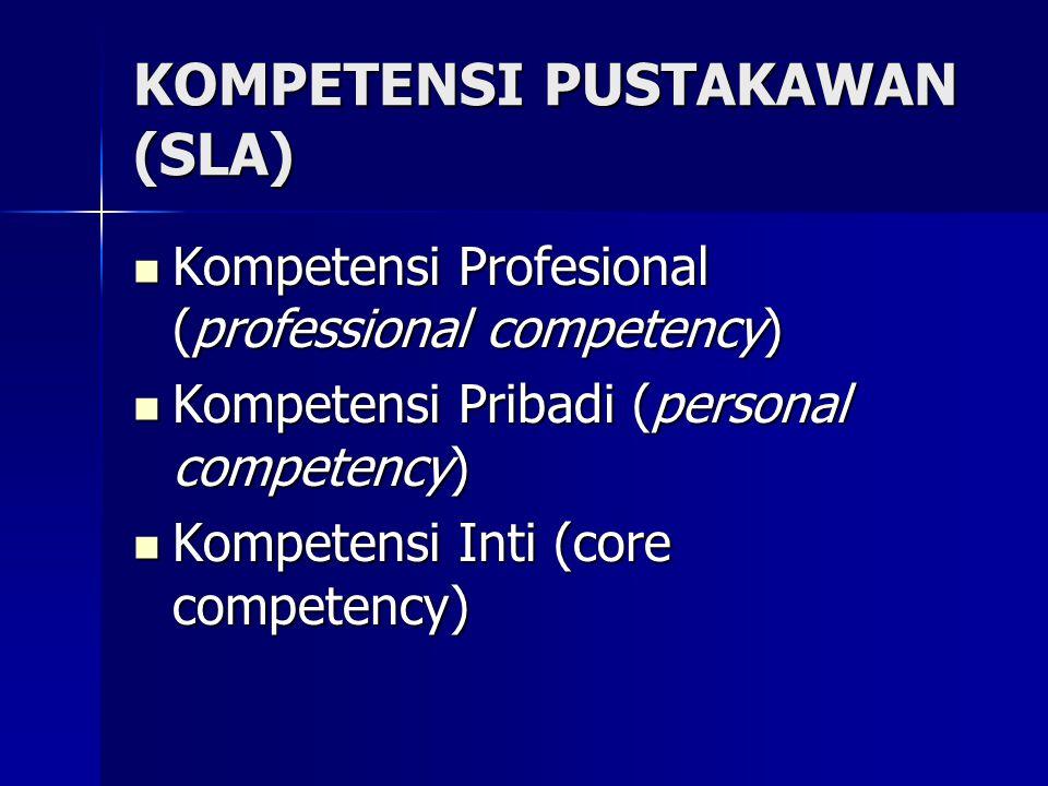 KOMPETENSI PUSTAKAWAN (SLA)