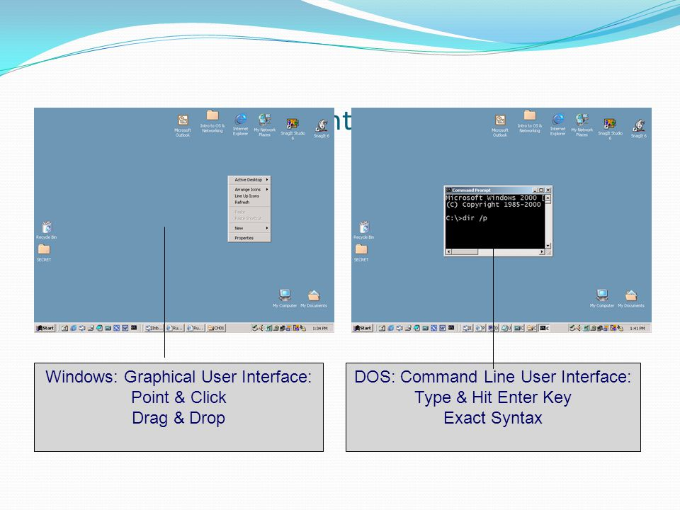 GUI vs. Command Line Interface