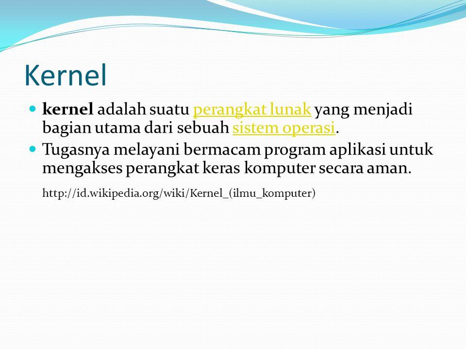 Kernel http://id.wikipedia.org/wiki/Kernel_(ilmu_komputer)