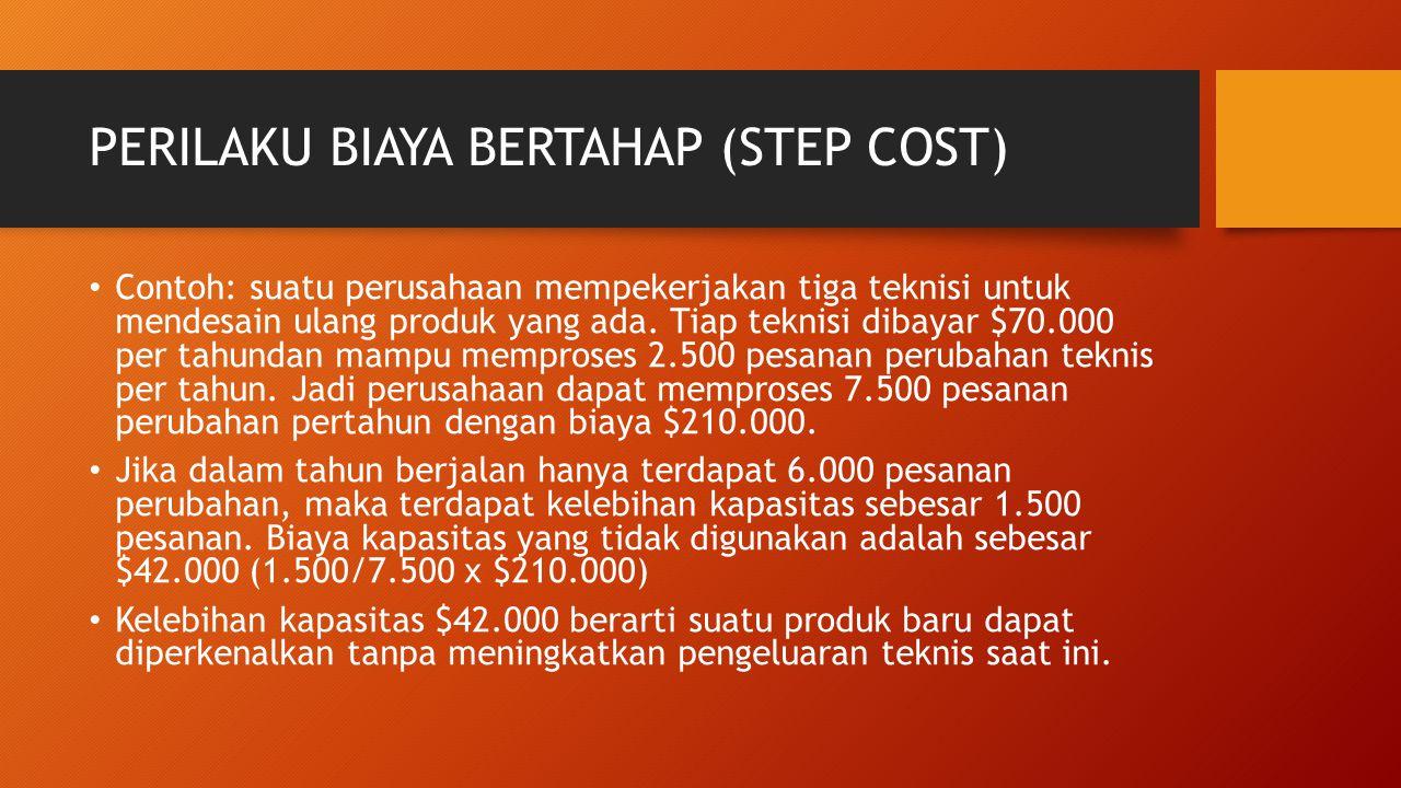 PERILAKU BIAYA BERTAHAP (STEP COST)