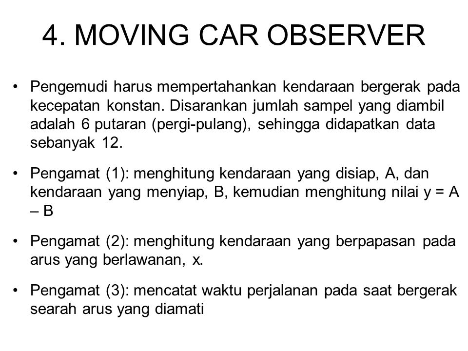 4. MOVING CAR OBSERVER