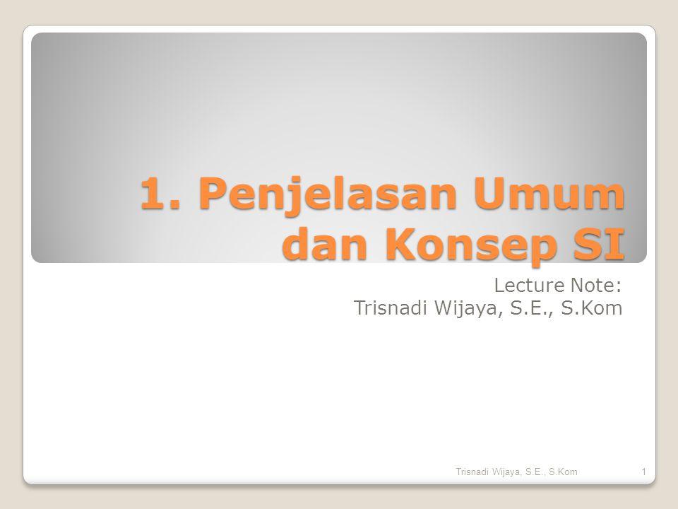 1. Penjelasan Umum dan Konsep SI