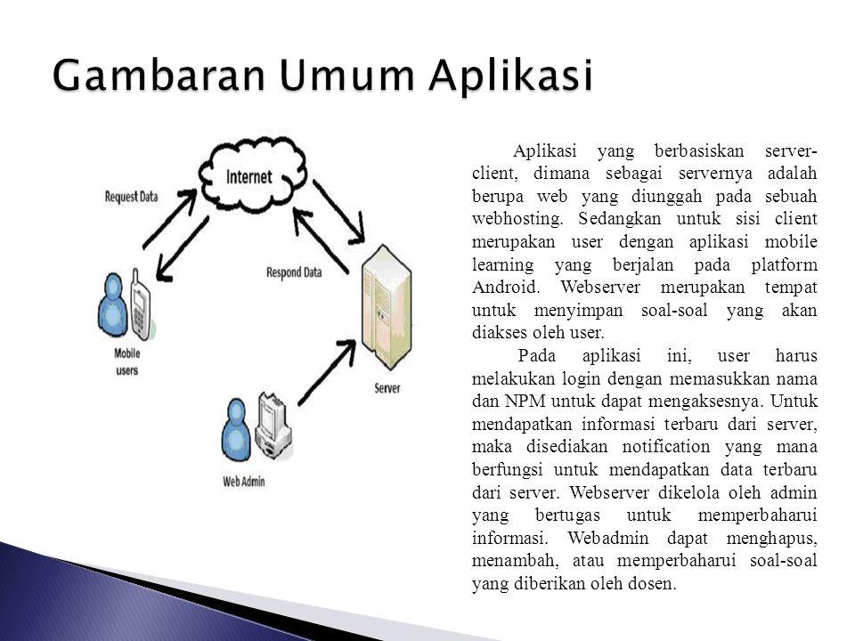 Gambaran Umum Aplikasi