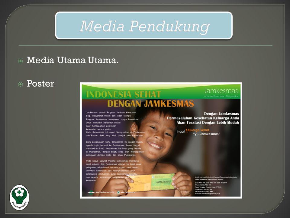 Media Pendukung Media Utama Utama. Poster