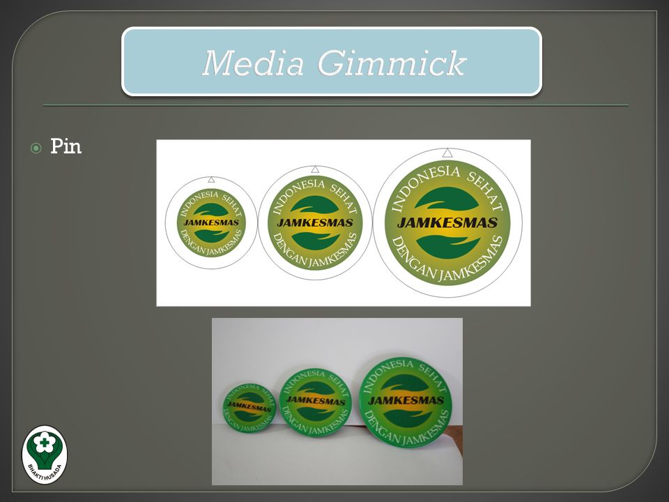Media Gimmick Pin