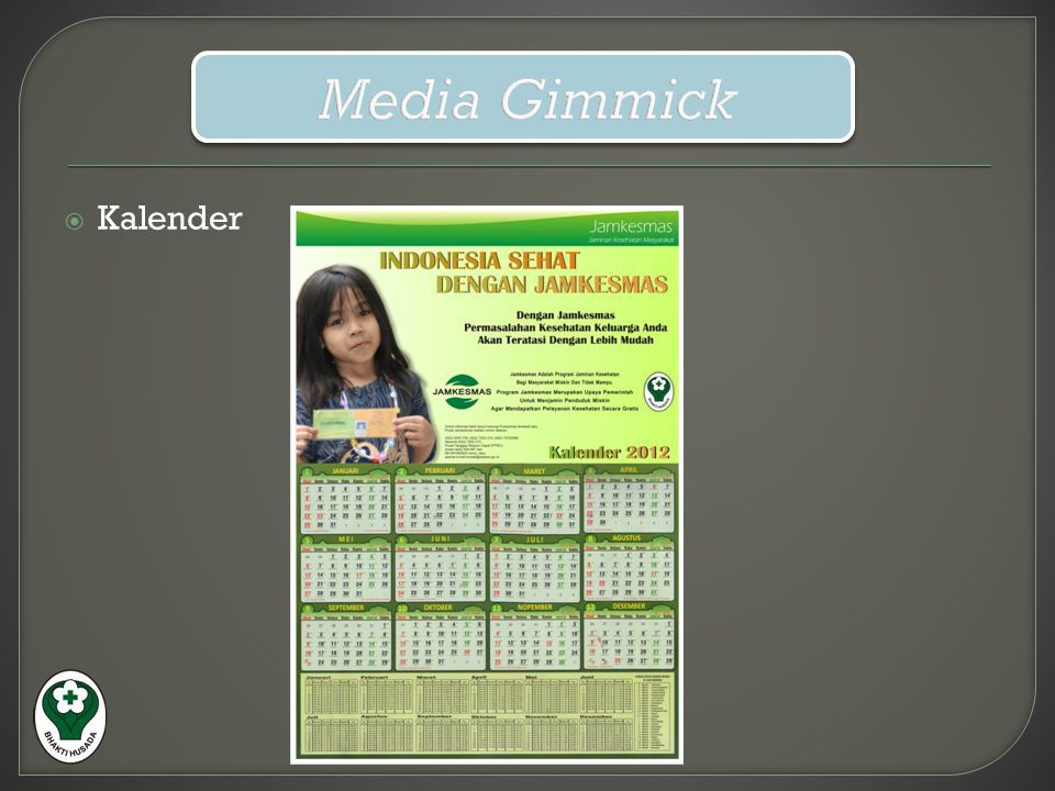 Media Gimmick Kalender
