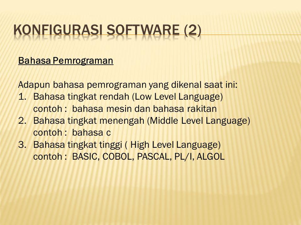 Konfigurasi software (2)