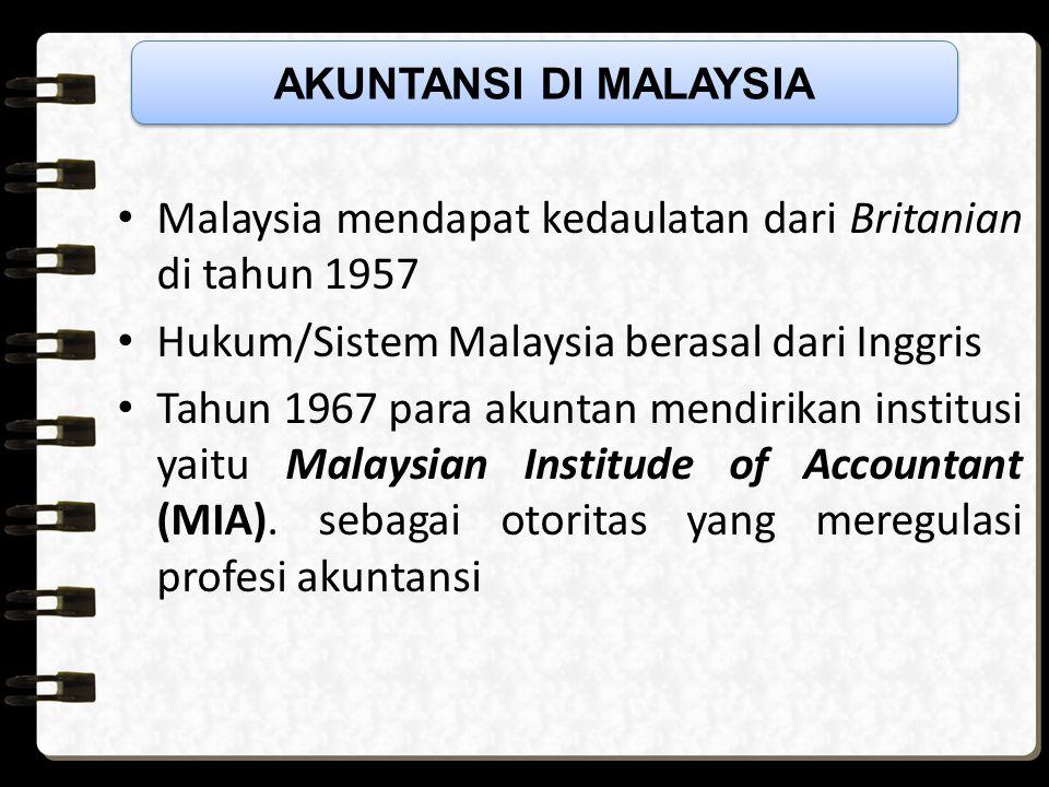 Malaysia mendapat kedaulatan dari Britanian di tahun 1957