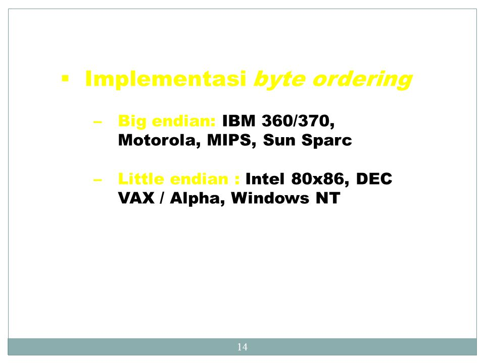 Implementasi byte ordering